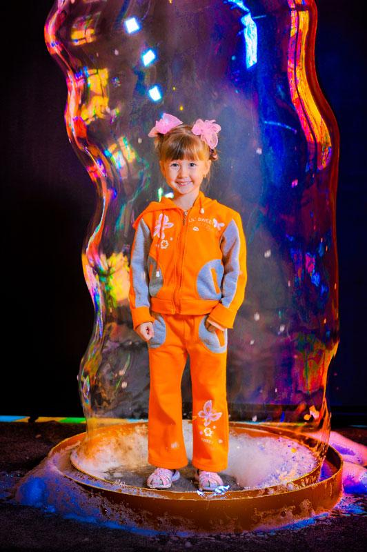 Шоу с мыльными пузырями для детей