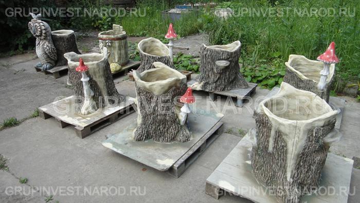 Скульптура садовая из бетона своими руками