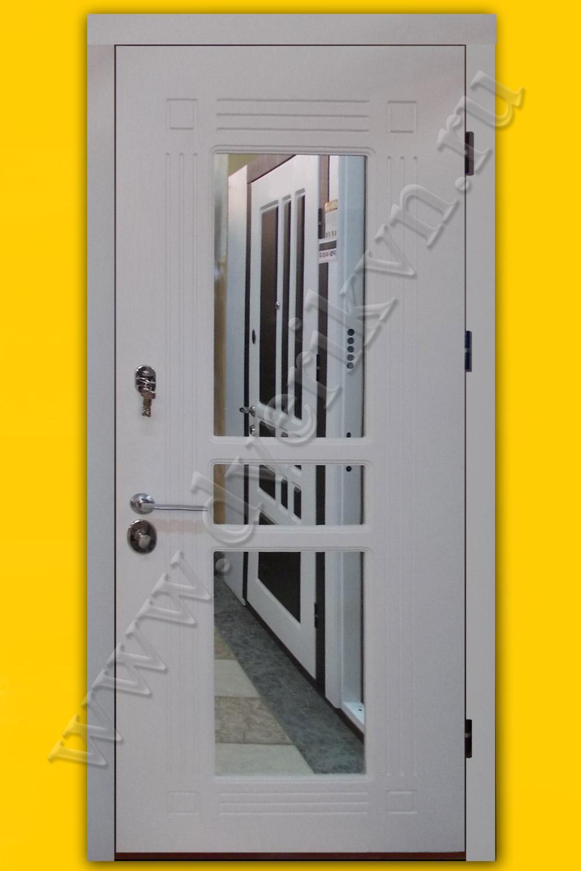 металлическая дверь с зеркалом уличная