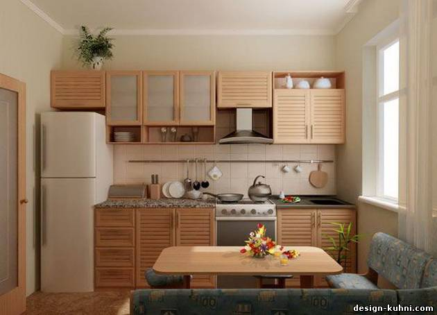 Дизайн кухни с диваном, фото