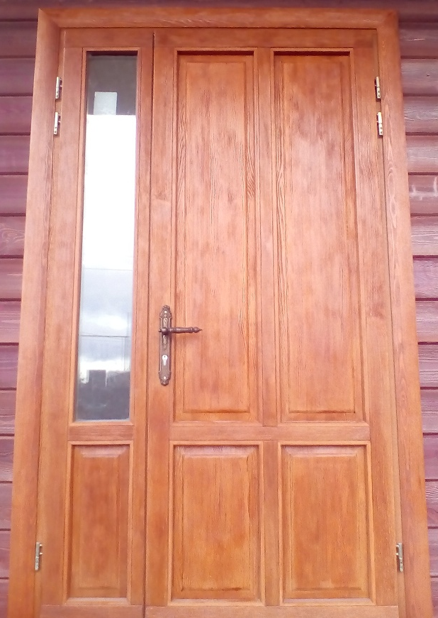 теплая входная дверь 100 мм